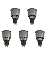 7W Spot LED 1 COB 780 lm Blanc Chaud Blanc Froid Décorative V 5 pièces