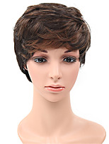 Fashion Curly Brown Natural Wigs for Women Costume Wigs Cosplay Synthetic Wigs