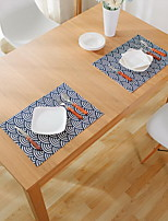 Japanese Fabric Creative Anti-slip Anti-hot Cotton And Linen Table Placemat 32*45cm