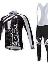 Cycling Jersey with Bib Tights Unisex Long Sleeves Bike Clothing Suits Ventilation Quick Dry Spandex Polyester Silicon LYCRA® Autumn