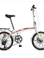 Vélo pliant Cyclisme 7 Vitesse 20 pouces YINXING Frein à Double Disque Sans Amortisseur Cadre en Acier Carbone Pliage Sans Amortisseur