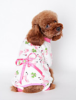 Dog Clothes/Jumpsuit Dog Clothes Casual/Daily Bowknot Yellow Blue Blushing Pink