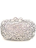Women Fashion Handmade Crystal Rhinestone Silver Clutches