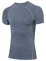 Men's Running T-Shirt Baselayer Short Sleeves Fitness, Running & Yoga Quick Dry Compression Clothing Top for Yoga Running/Jogging