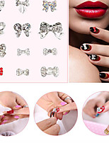 A Single Nail Pinpai Nail Drill 24 Alloy Jewelry Butterfly Nail Drill Cell Phone Flashing Stickers Drill Nail Art DIY Decoration