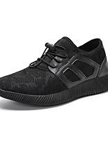 Для мужчин Кеды Удобная обувь Ткань Весна Лето Атлетический Повседневные На эластичной ленте На плоской подошве Черный Темно-синийНа