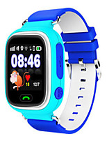 Детские Смарт-часы Цифровой Кожа Группа Синий Оранжевый Розовый