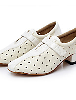 Для женщин Латина Искусственное волокно На каблуках Профессиональный стиль Белый Черный 2,5 - 4,5 см Персонализируемая