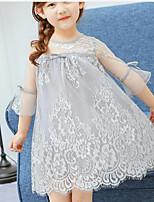 Vestido Chica de Estampado Manga Corta Verano