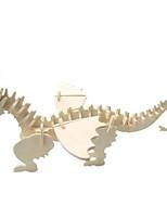 Quebra-cabeças Kit Faça Você Mesmo Quebra-Cabeças 3D Blocos de construção Brinquedos Faça Você Mesmo Animal Madeira Natural