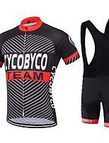 Camisa com Bermuda Bretelle Homens Manga Curta Moto Shorts Camisa Pulôver Camisa/Roupas Para Esporte BlusasSecagem Rápida Permeável á