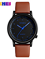 SKMEI Clock Relojes Male Fashion Casual Watches Leather Strap Waterproof Mens Wristwatches Relogio Masculino Quartz Watch