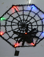 Halloween Bar KTV House Ornaments Glow Spider Web Color Random
