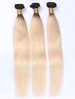 Омбре Малазийские волосы Прямые 12 месяцев 3 предмета волосы ткет