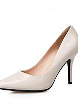 Damen High Heels Fersenriemen PU Frühling Normal Fersenriemen Weiß Schwarz Rosa 7,5 - 9,5 cm