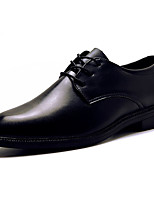 Men's Oxfords Comfort PU Spring Fall Outdoor Comfort Flat Heel Black Flat