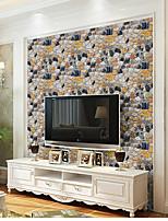 secesní motiv 3D Kámen Tapety pro domácnost Moderní Wall Krycí , PVC a vinyl Materiál Samolepící tapeta , pokoj tapeta