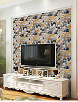ארט דקו 3D אבן טפט עבור בית מודרני וול כיסוי , PVC/Vinyl חוֹמֶר דבק טפט , Wallcovering חדר