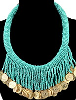 Pendant Necklaces Statement Necklaces Bohemian Women's Geometric Alloy Tassel  Style Party  Beach Statement Movie Jewelry