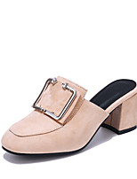 Women's Clogs & Mules Slingback Light Soles Leatherette Summer Casual Dress Slingback Light Soles Chunky Heel Blue Gray Beige Black2in-2