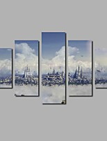 Fashion New 5 Piece Art Movie Wars Castles Canvas Art Modular Paintings For The Hall Living Room Decor Modern Printings Unframed