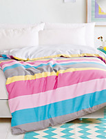 Duvet Cover Stripe 1 Piece Reactive Print 1pc Duvet Cover
