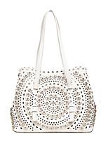 Women Bag Sets PU All Seasons Casual Baguette Zipper Blushing Pink Black White