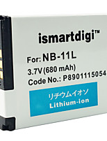 Ismartdigi 11L 3.7V 680mAh Camera Battery for Canon IXUS 240 245 A2300 2400 2600 3400 3500 4000