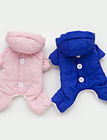 Dog Clothes/Jumpsuit Dog Clothes Casual/Daily Solid Orange Yellow Blue Blushing Pink