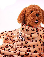 Dog Bed Pet Blankets Leopard Warm Portable Double-Sided Soft Leopard