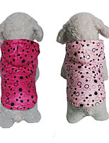Dog Hoodie Dog Clothes Casual/Daily Polka Dots Blushing Pink Fuchsia
