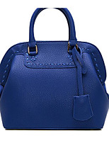 Women Shoulder Bag PU All Seasons Casual Outdoor Shell Zipper Gray Black Blue