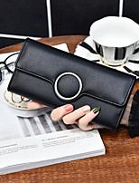 Men Checkbook Wallet PU All Seasons Casual Rectangle Magnetic Blushing Pink Arm Green Black