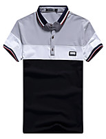 Men's Business Other Daily Casual Leisure Sports Casual/Daily Simple Street chic Chinoiserie Spring Summer Polo,Solid Striped Color Block