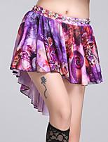 Danza del Vientre Pantalones y Faldas Mujer Entrenamiento Fibra de Leche 1 Pieza Cintura Media Faldas