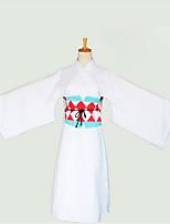 Trajes Cosplay Kimono Más Accesorios Inspirado por Cosplay Cosplay Animé Accesorios de Cosplay Cinturón Más Accesorios Tocados Algodón