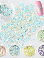 1g/Bottle Summer Sea Beach Colorful Mixed Candy Colors Nail Art Irregular Flake Powder Holographic Glitter Paillette Nail DIY Beauty Sequins