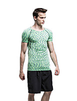 Men's Running T-Shirt Running Shorts Short Sleeves Quick Dry Breathable Compression Clothing Jersey + Bib Shorts forRunning/Jogging