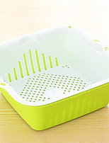 Double Kitchen With Multi-purpose Plastic Fruit And Vegetable Dripping Basket