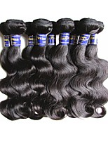 cheap peruvian human hair body wave 6bundles 600g lot for two head 100% human hair material made natural black color