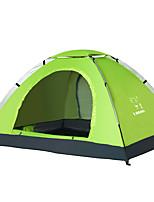 2 personnes Tente Unique Tente automatique Une pièce Tente de camping 2000-3000 mm Polyester Oxford Ventilation Respirable Ecran Solaire