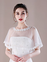 Women's Wrap Capelets Tulle Wedding Party/ Evening Lace