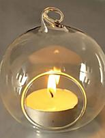 1Pcs Fashion Candle Holder Hanging Clear Globe Glass Terrarium Air Plant Decor