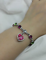 Women's Chain Bracelet Fashion Alloy Heart Jewelry For Wedding Party Anniversary Birthday Valentine 1 pc