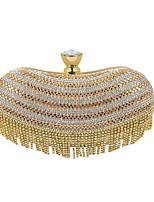 L.WEST Woman Fashion Luxury High-grade Tassel Diamond Evening Bag