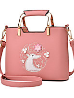 IMBETTUY Women's Fashion Embroidered PU Leather Messenger Shoulder Bags/Handbags Tote