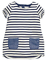 Girl's Striped Dress,Cotton Summer Sleeveless