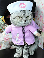Cat Dog Costume Dog Clothes Cosplay Solid Blushing Pink Blue Black