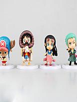 Figuras de Ação Anime Inspirado por One Piece Monkey D. Luffy PVC 7 CM modelo Brinquedos Boneca de Brinquedo