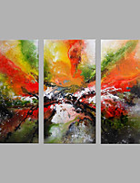 Hand-Painted Artistic Abstract Three Panel Canvas Oil Painting For Home Decoration